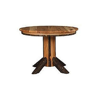 Hickory Single Pedestal Solid Top Table