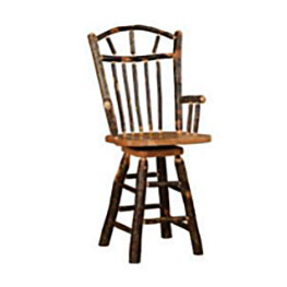 Wagon Wheel Swivel Arm Barstool
