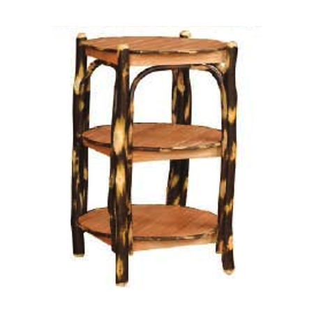 3 Tier Round Table (Oak and Hickory)