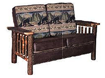 Love Seat w/ Upholstered Arm
