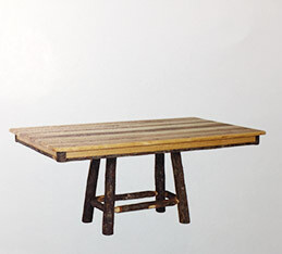 Solid Top Trestle Table