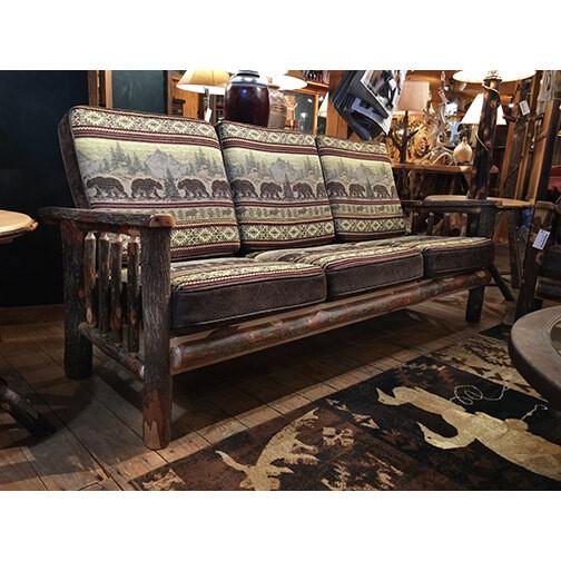 Sofa w/Hickory Arms