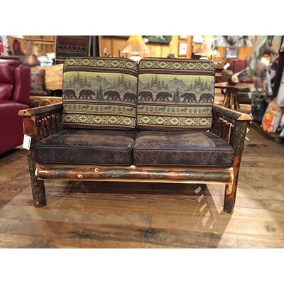 Love Seat w/Hickory Arms