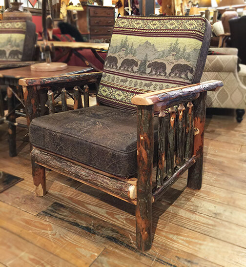 Chair w/Hickory Arms