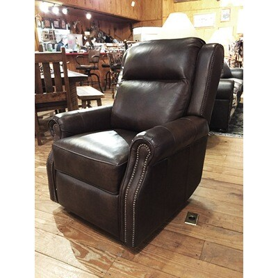 Swivel High Leg Recliner-Push on Arm release
