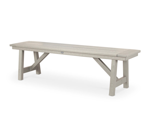 """Rustic Farmhouse 60"""" Backless Bench"""