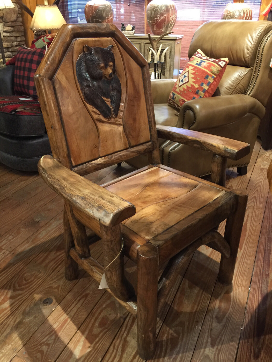 Captains Chair with Carving