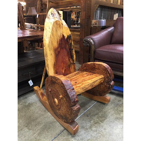 Ghost Beech Wood Rocking Chair