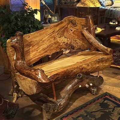 Hickory Inlaid Bench