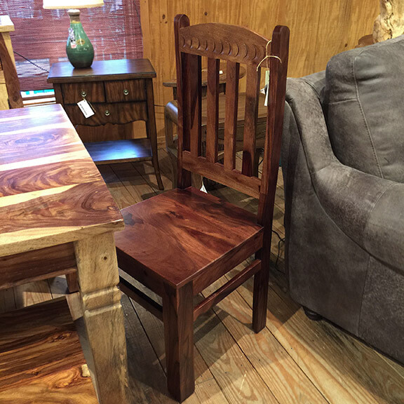 Dining Chair Rosewood with Walnut Finish