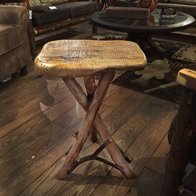 Maple Tripod Side Table w/ Locust and Mountain Laurel Base