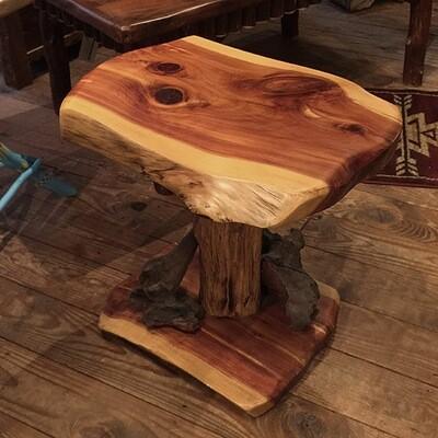 Cedar Slab Side Table