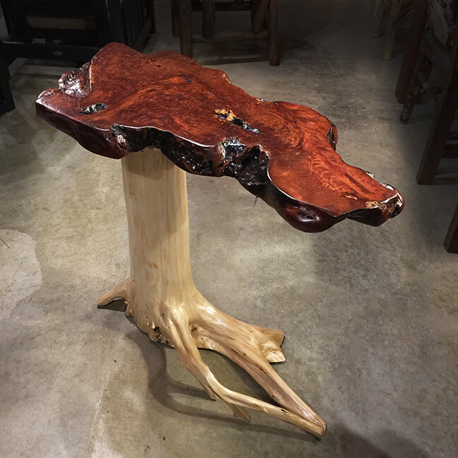 White Cedar Base / Redwood Burl Top