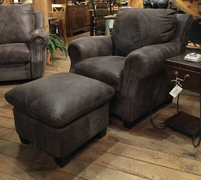 Outback Gray Chair and Ottoman