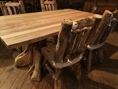 Double Stump Table - Spalted Maple Top