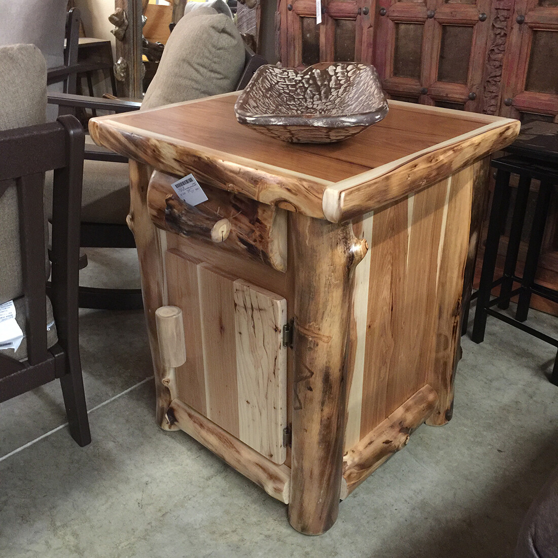 Aspen Enclosed Nightstand (door and drawer)