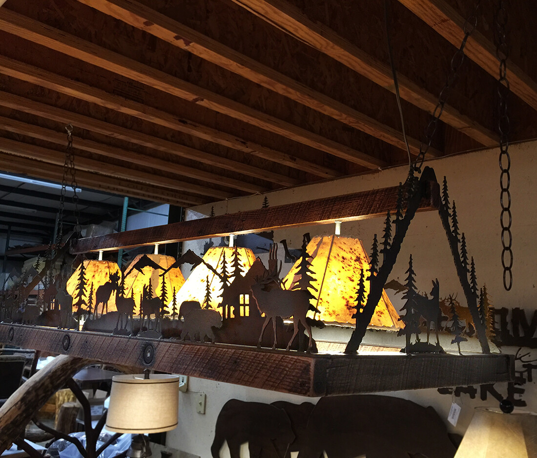 "4 Light Rectangular Lodge (60"")"