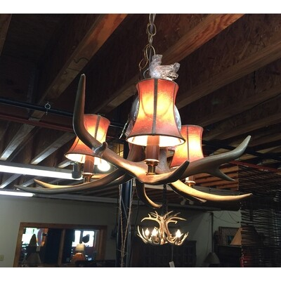 Whitetail Faux Antler Chandelier