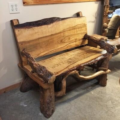 Hickory Locust Beech Bench 4'