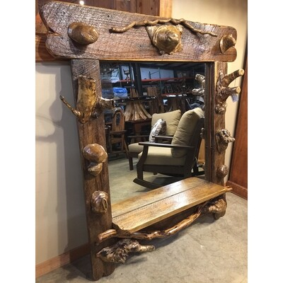Extra Large Mirror with Burls