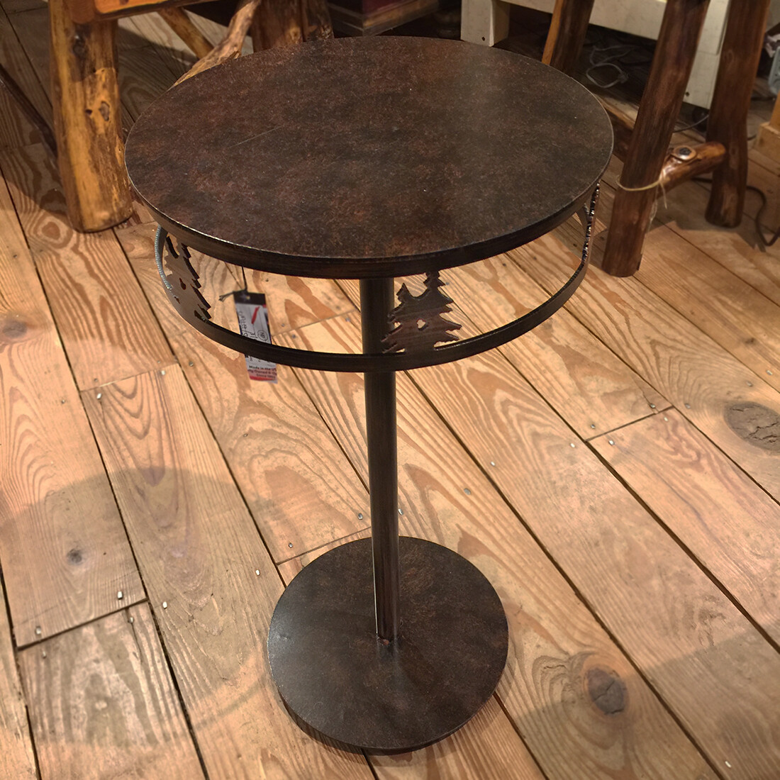 Iron Band of Double Pine Trees Drink Table