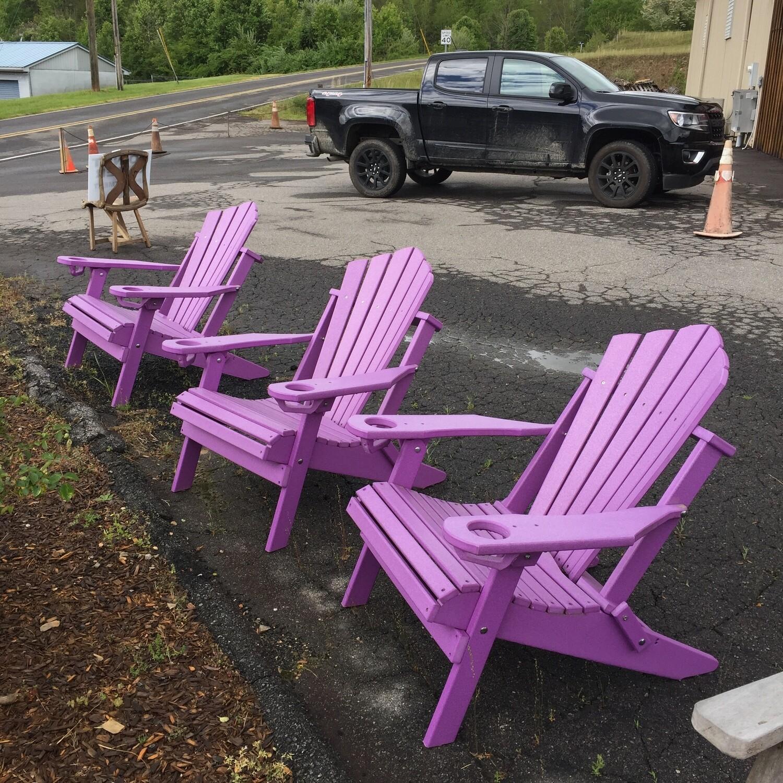 Folding Adirondack Chair Folding w/cup holder