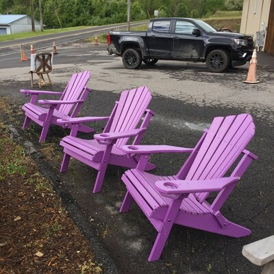 Folding Adirondack Chair Folding w/cup holder