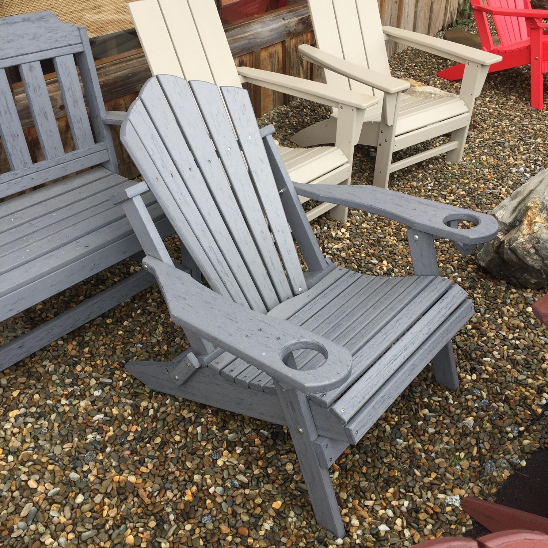 Folding Adirondack Chair w/cup holder