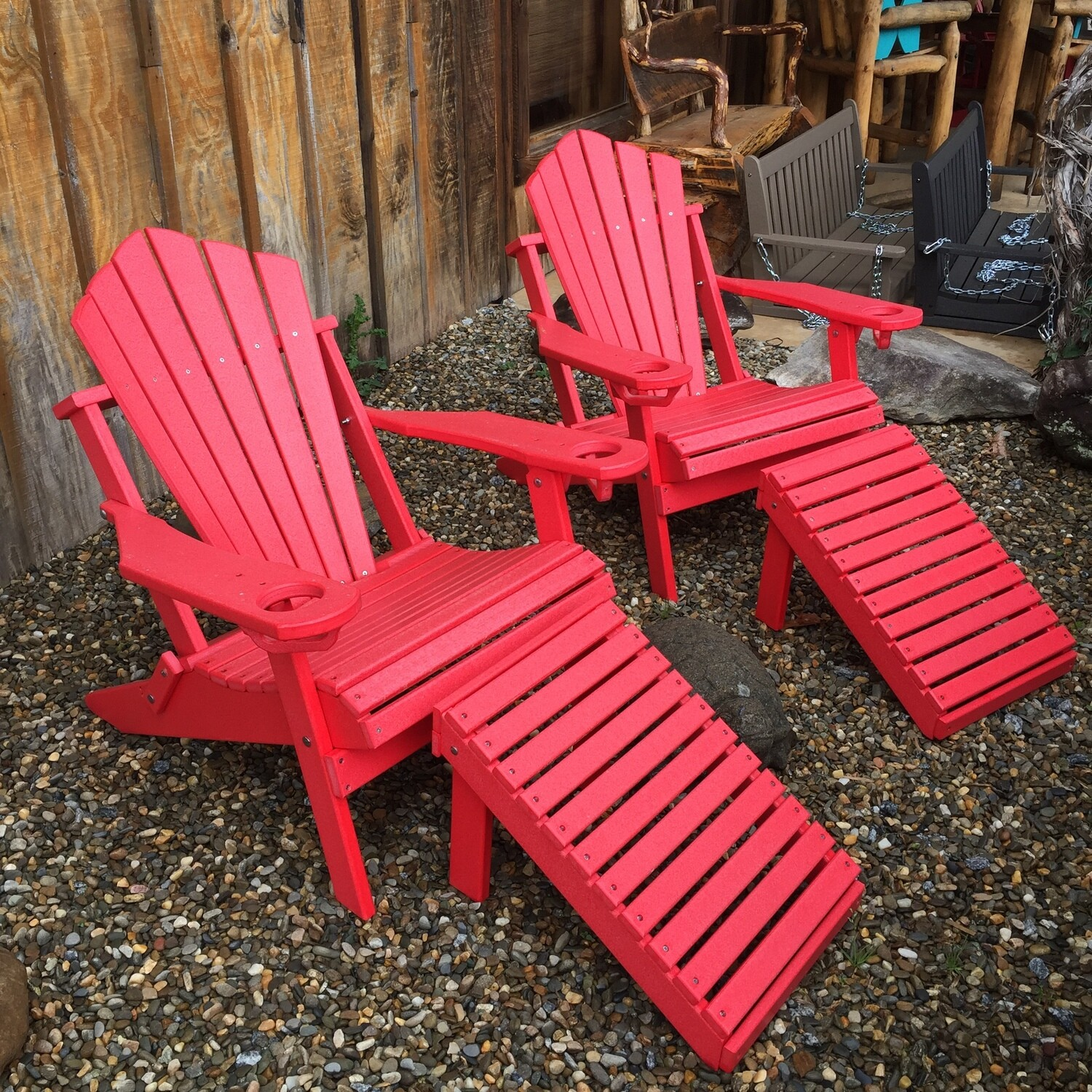 Adirondack Chair w/cup holder and matching ottoman