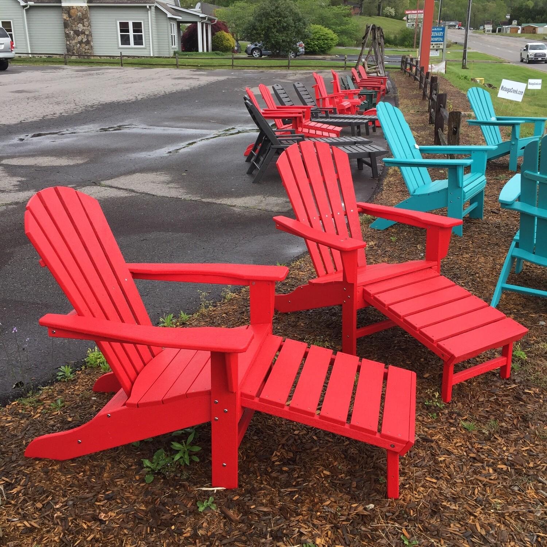 Adirondack Chair w/hidaway Ottoman   (CALL FOR PRICE)