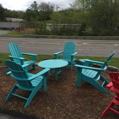Adirondack Set (4 chairs and table) Call for price