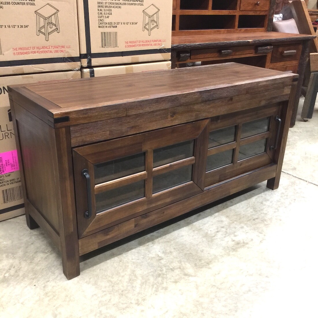 St Croix TV Console with 2 Doors