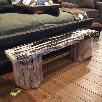 Medium Petrified Wood Bench