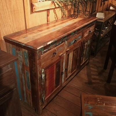Reclaimed Wood 3 Dr Sideboard 60X18X36