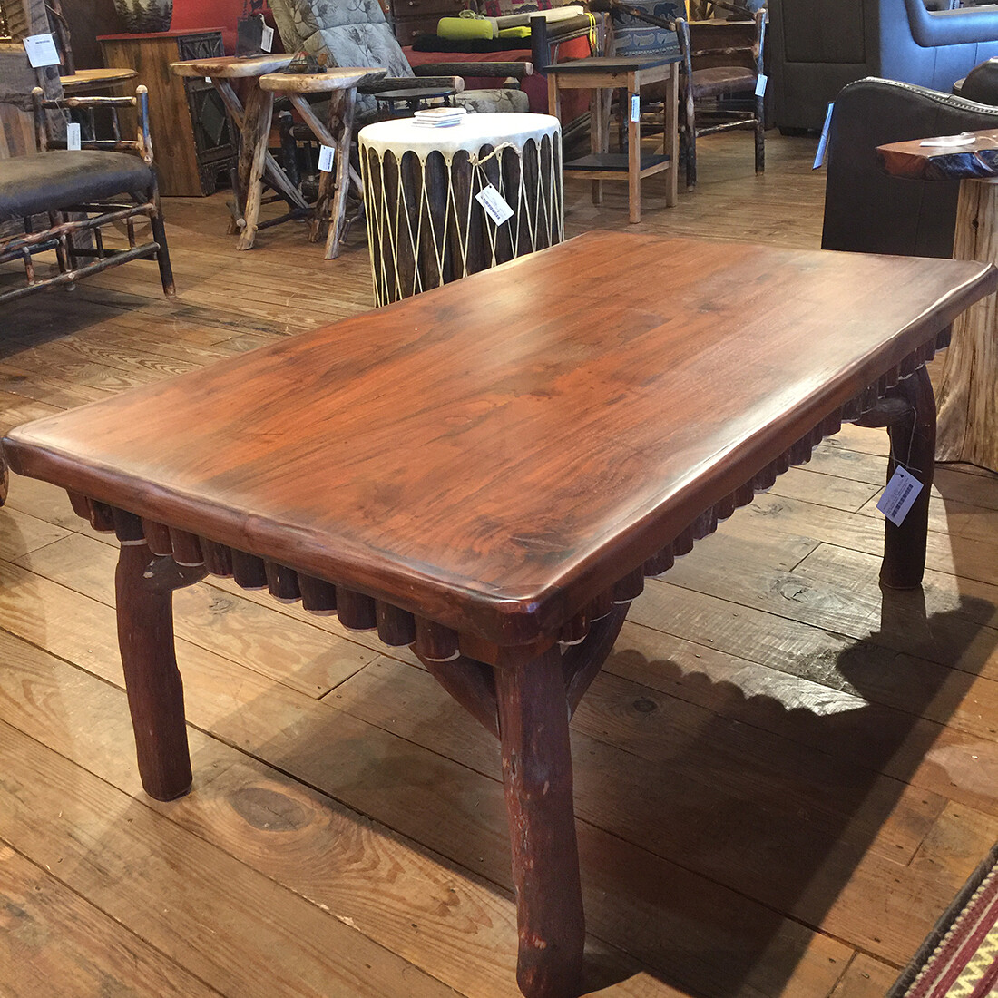 Walnut Coffee Table, Mountain Laurel base