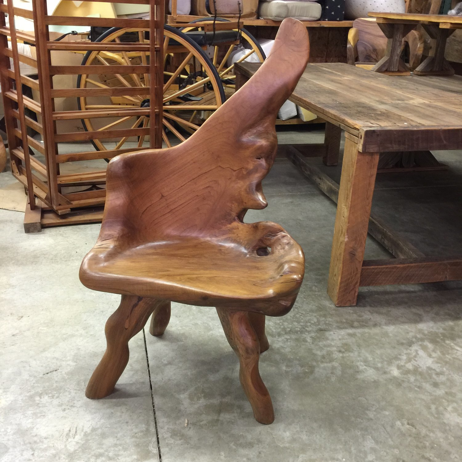 Small Teak Root Chair #2