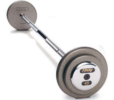Troy Pro Style Barbell – Hammer-tone Gray