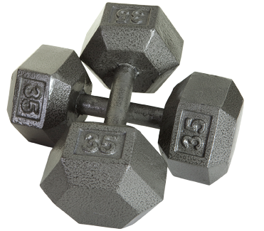 Iron Hex Dumbbells