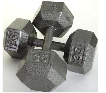 Iron Hex Dumbbells