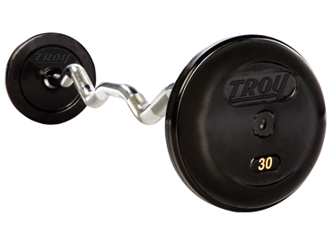 Troy Pro Style Rubber Encased Fixed Barbell