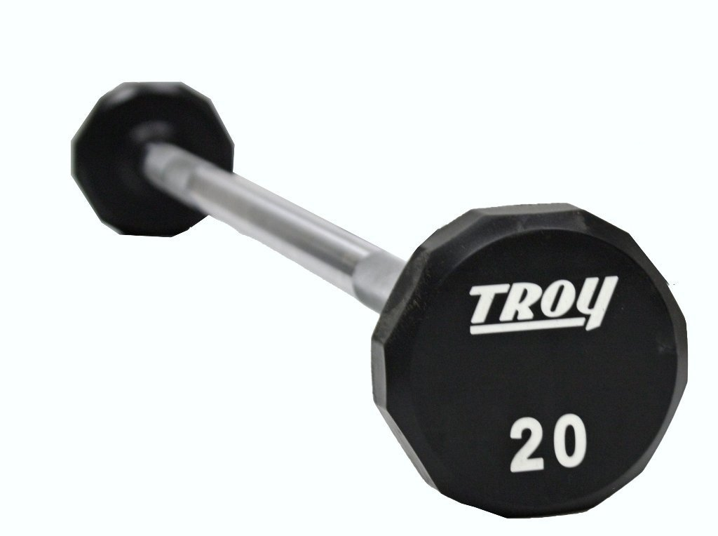 TROY 12-Sided Urethane Straight Barbell