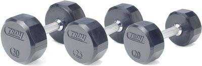 Troy 12-Sided Rubber Encased Dumbbells