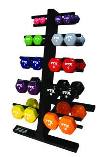 VTX Colored Neoprene Dumbbell Pack