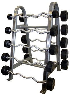Troy Rubber Curl Barbell Set