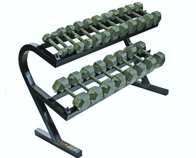 "USA Iron Hex Dumbbells ""10-Pair Horizontal Rack"" Pack"