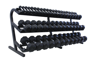 """VTX Rubber Encased Dumbbells """"20-Pair Rack"""" Pack"""