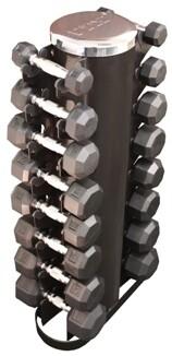 """VTX Rubber Encased Dumbbells """"8-Pair Rack"""" Pack"""