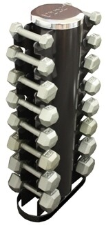 "USA Iron Hex Dumbbells ""8-Pair Vertical Rack"" Pack"