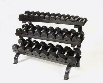 "Troy Rubber Dumbbells ""15-Pair Horizontal Rack"" Pack"