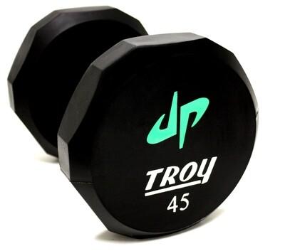 Troy Urethane 12-Sided Dumbbells (Custom Logo)